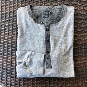 Grayers Shirts - Grayers Todd Slub Henley Gray Heather Marled